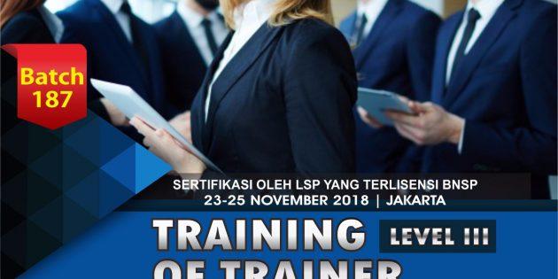Training Of Trainer Certification – Sertifikasi BNSP (PASTI JALAN)