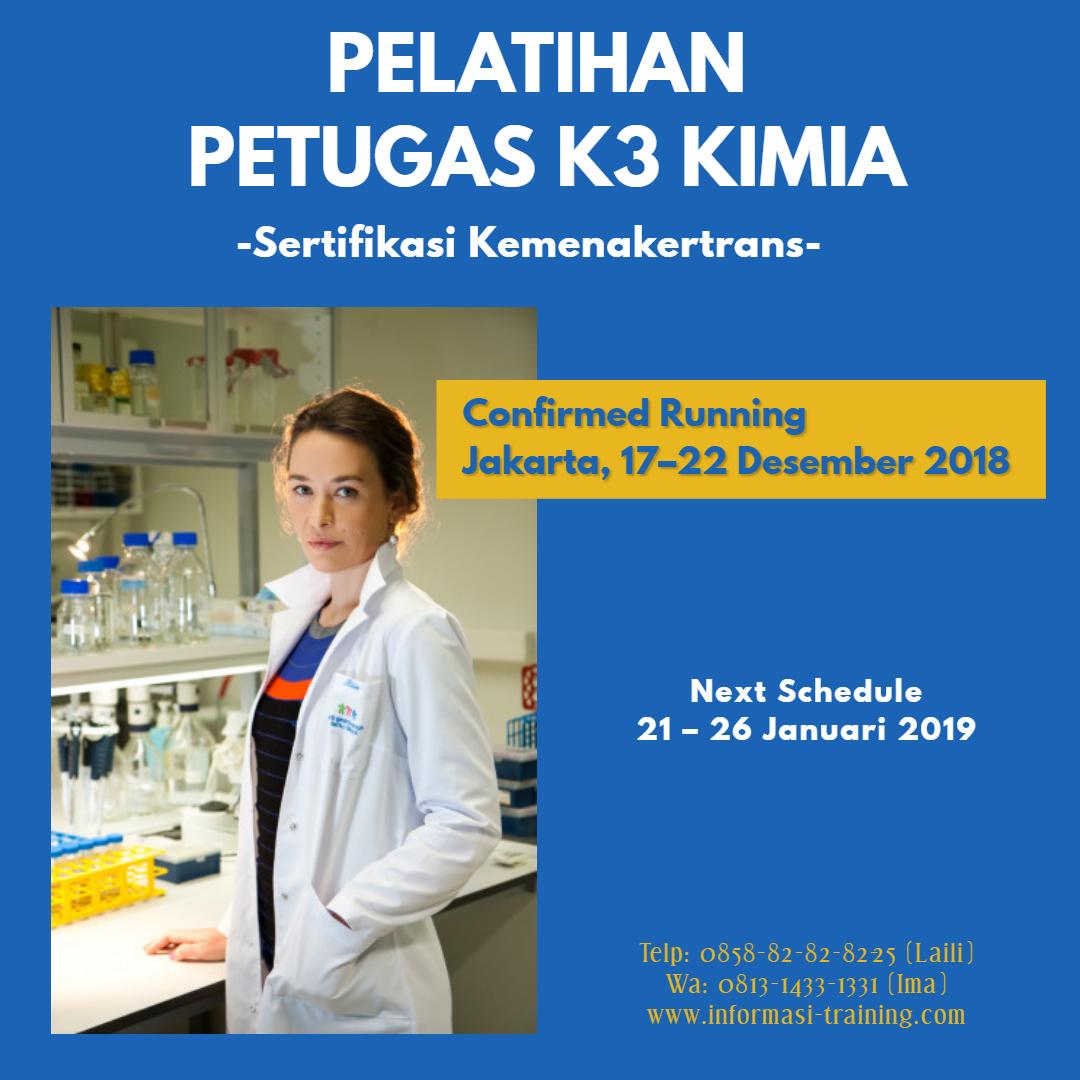 Pelatihan Petugas K3 Kimia – Sertifikasi Depnakertrans (PASTI JALAN)
