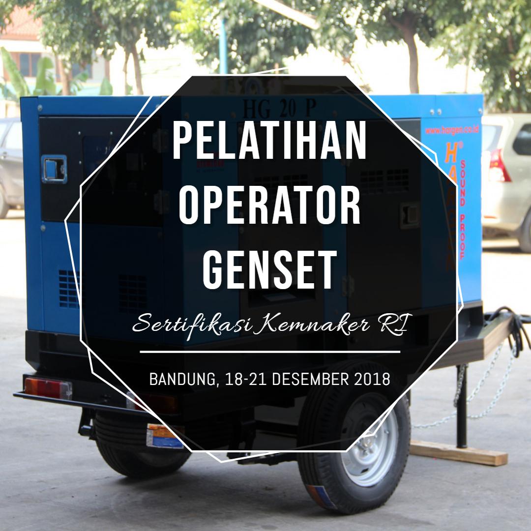 sertifikasi operator genset