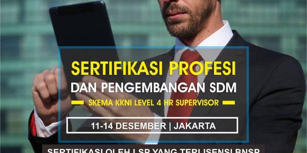HR Supervisor – Serifikasi BNSP (PASTI JALAN)
